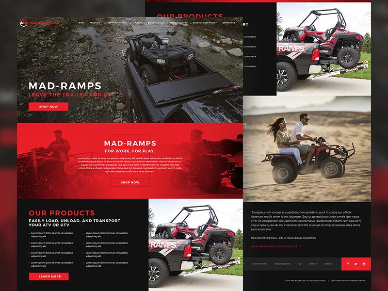 Mad-Ramps ramp truck atv website web design web site