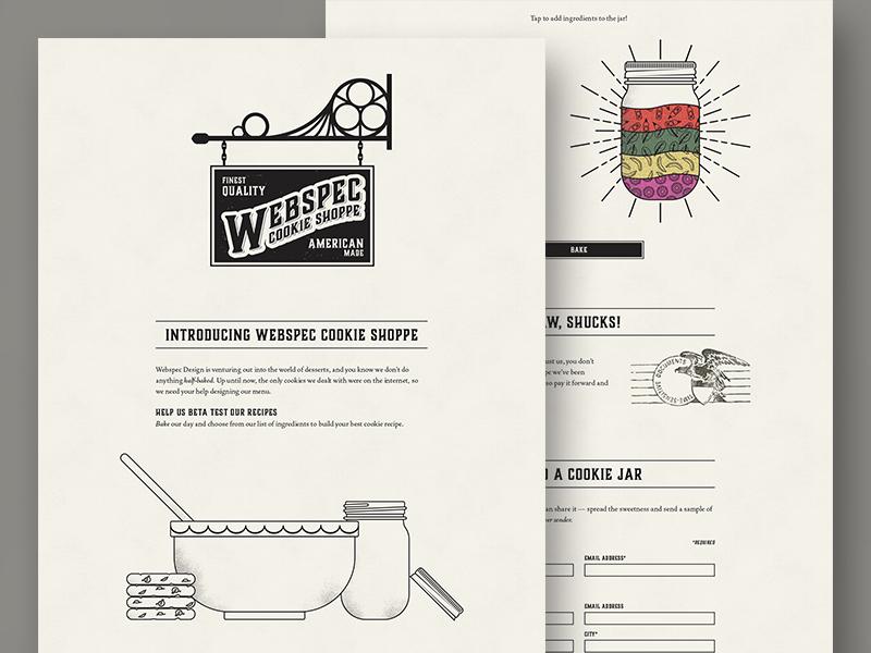Webspec Cookie Shoppe texture vector illustration shoppe jar cookie website web design web site