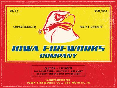 Iowa Fireworks Co. Postcard