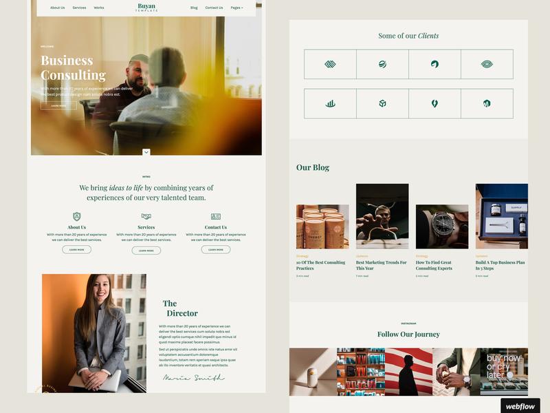 Buyan Business Template   Webflow cms agency business portfolio template webflow