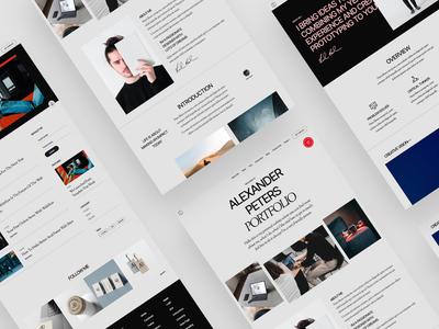 Porte Portfolio/ Resume Template branding landing page design ui template portfolio cms webflow