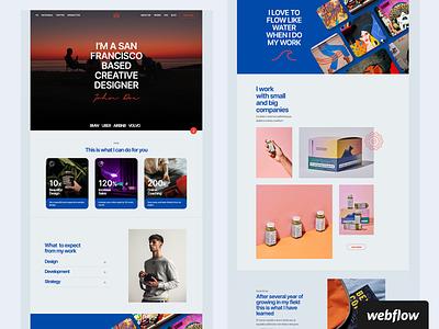 Horizon Personal Portfolio Template | Webflow branding cms ui portfolio template webflow