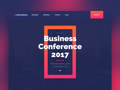 Conference Thumbnail webflow event conference