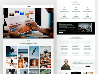 Carrete CMS Template | Webflow portfolio photography