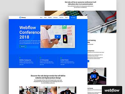 Meet Up Design Concept event template webflow