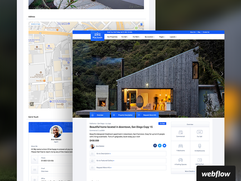 Lux CMS Real Estate Template | Webflow template cms real estate webflow