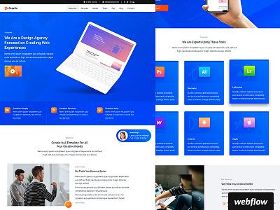 Creatix Template | WIP software portfolio agency webflow template