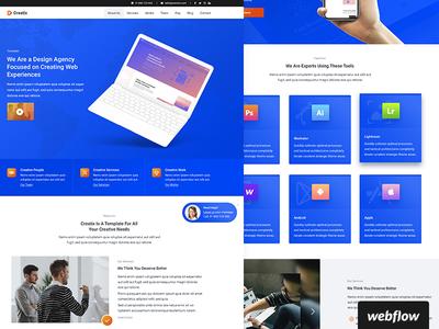 Creatix Template   WIP software portfolio agency webflow template