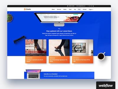 Creatix Blog   WIP cms template webflow