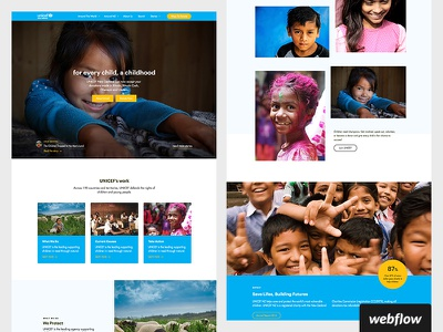 UNICEF NZ | Redesign non profit webflow redesign unicef