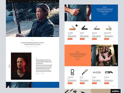 Meteora | Webflow Ecommerce Template WIP template store ecommerce webflow
