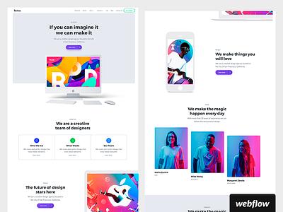 Fenix CMS and Ecommerce Template | Live! ui design ecommerce business agency portfolio cms template webflow
