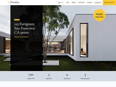Portofino Real Estate Template template design webflow