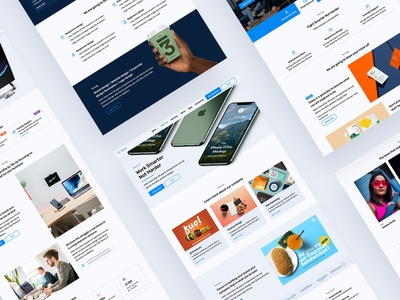 Zense UI Kit   Template parallax business landing page agency template cms portfolio designer ui webflow