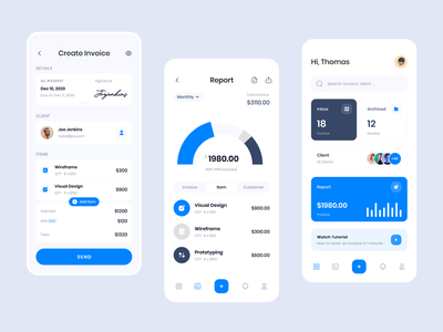 Exploration - Invoice App application ui uiux app design ios app minimal ux user interface ui design mobile app design clean freelancer invoicing app invoicing invoice funding invoice app invoice design invoices invoice ui