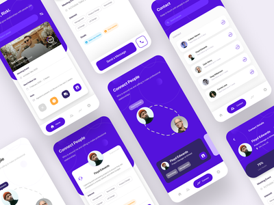Mobile App — Professional Networking app purple user interface meetup linkedin professional networking app design mobile app ux ui  ux uiux uidesign ui design ui mobile ui mobile app design
