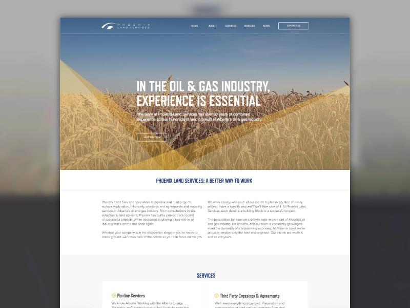 Phoenix Land Services made with invision sketch app sketch ux ui website wordpress responsive web development web design