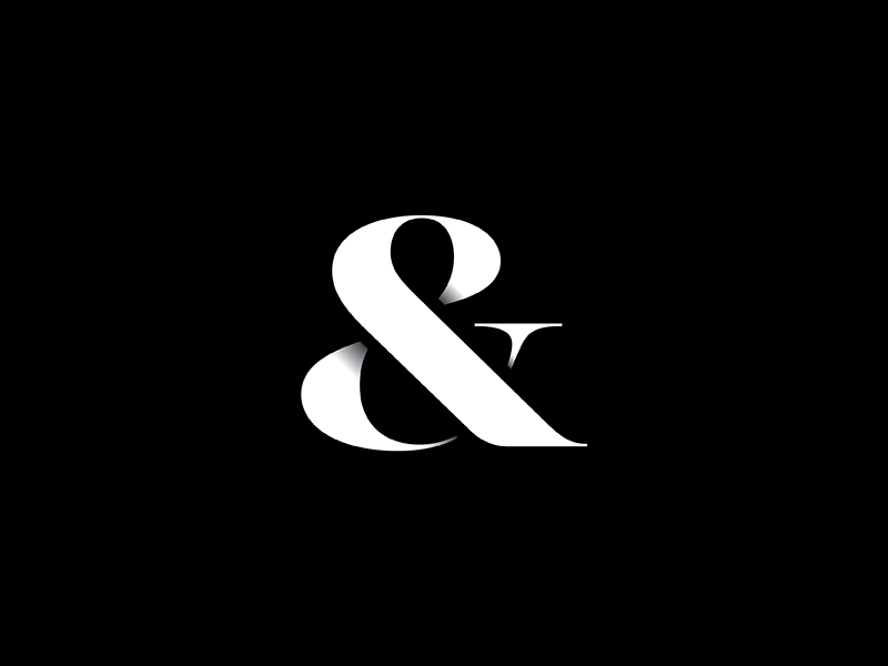 A thing for a thing. symbol lettering ampersand type