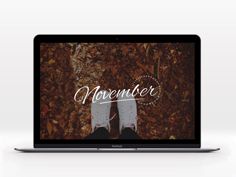 November Desktop Wallpaper desktop typography script wallpaper november