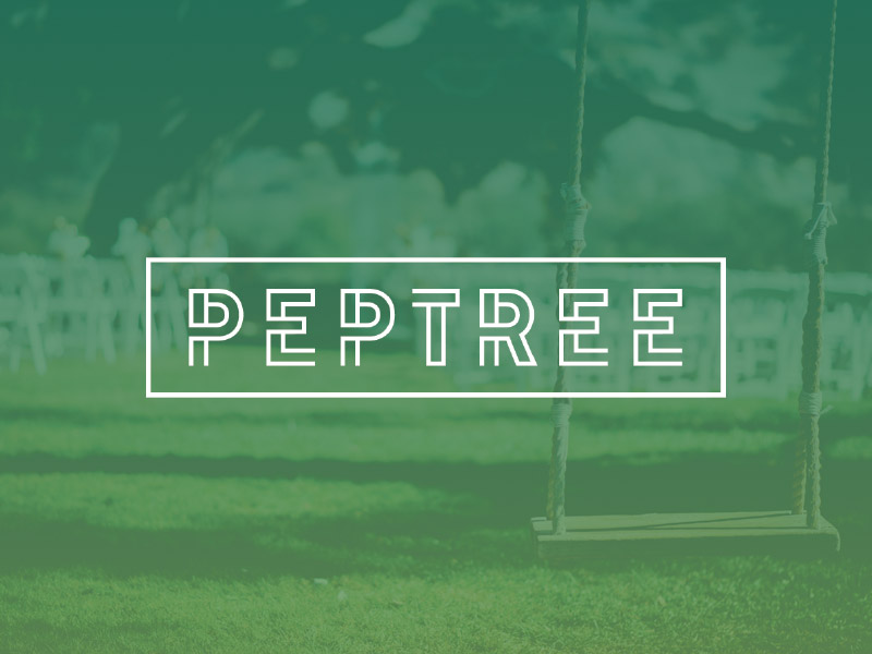 Peptree typography mark branding identity logo