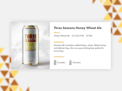 FMB Beer Details web ux ui minisite craft brewery beer