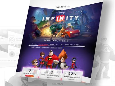 Infinity Home ui art direction infinity web disney