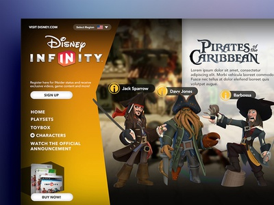 Infinity Pirates ui web disney