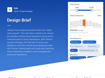 JobSurf mobile mobile app design visual design prototyping ux designer ui user interface user experience
