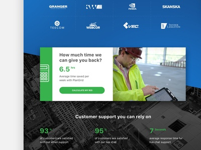 PlanGrid Marketing Website visual user interface website user experience marketing