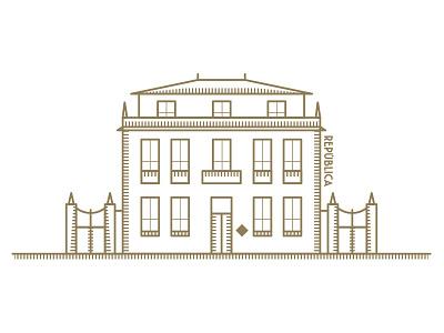 Porto República Hostel & Suites draw building