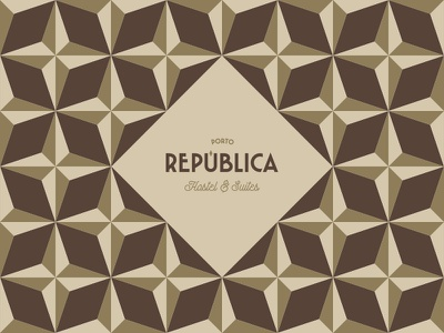 Porto República Hostel & Suites tiles pattern brand logo porto suites hostel