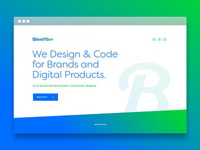 BlendNew - Design & Code - Daily UI 003 digital product design design interface ui landing page 003 dailyui