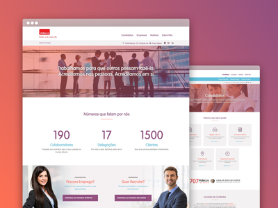 Adecco Human Resources Website human resources interface ui layout webdesign