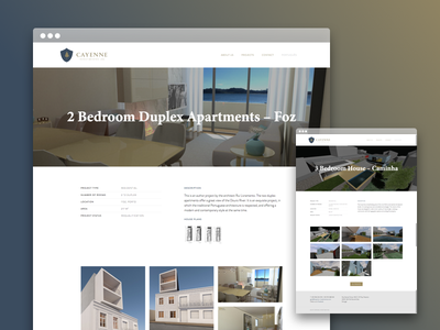Cayenne Investments real estate webdesign ui layout interface