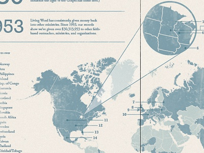 Annual Report Infographic infographic blue tan map annual report monotone