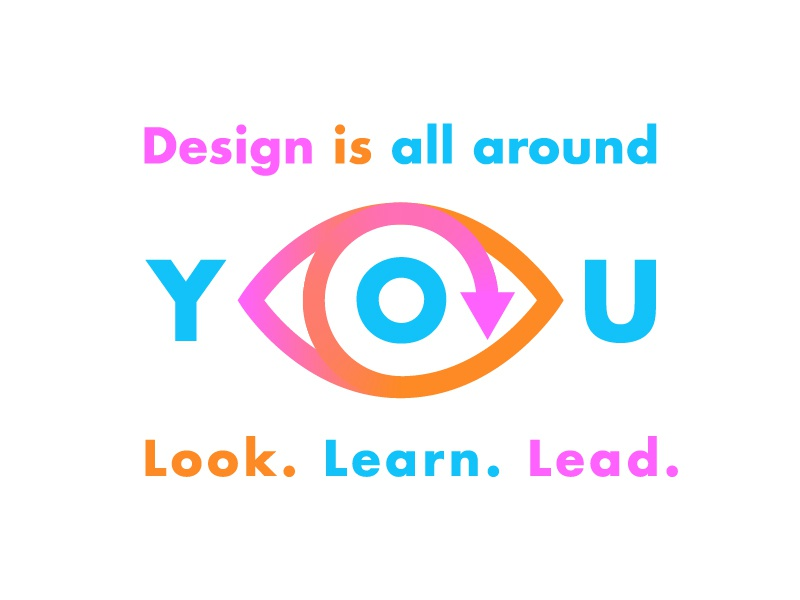 Design Is All Around You vibrant neon eye circle refresh lines futura shopify design