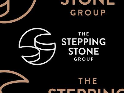 Stepping Stone Final home rental real estate brandon grotesque logo identity brand circle monogram stone stair step