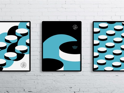 Stepping Stone Group - Posters frame wall office pop contemporary branding logo identity art modern shape poster