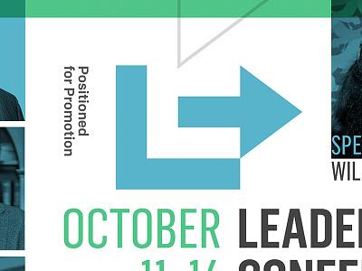 Leadership Conference church conference shape arrow monogram symbol mark brand identity logo