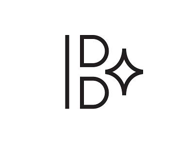 "Updated ""B"" Photography Mark couple identity light spark line circle brand logo mark photography flash b"