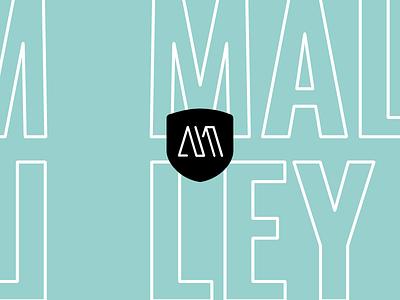 Malley simple layout stroke logo