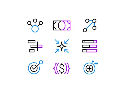Landing Page Icons finance crypto technology icon