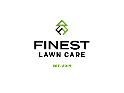 Finest Lawn Care icon identity branding logo