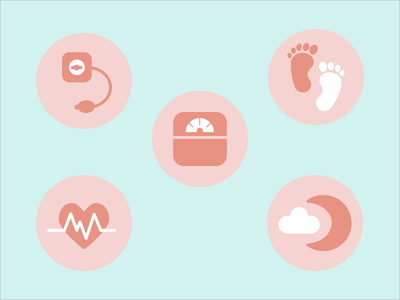 Vitals vector simple cute vitals medicine health illustration