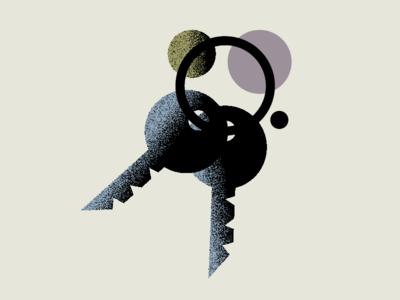 Experiment 2 keys texture simple illustration
