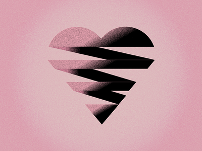 Happy Heart Day simple vector illustration texture heart valentines