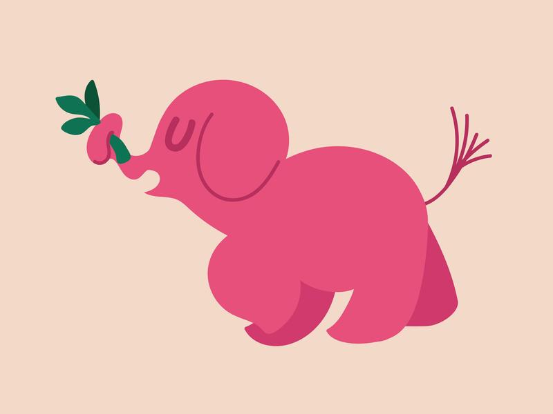 Elephant (WIP) vector cute simple illustration drawing elephant