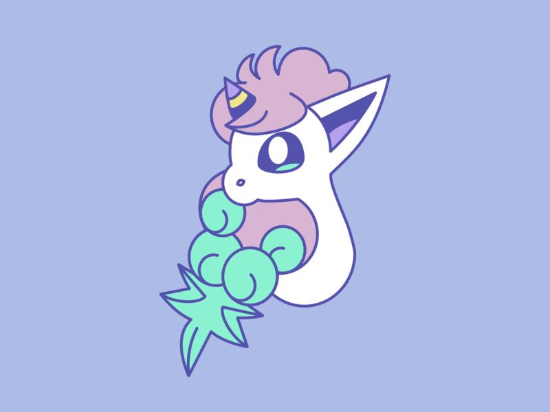 My Little Ponyta simple cute galarian ponyta ponyta pokemon