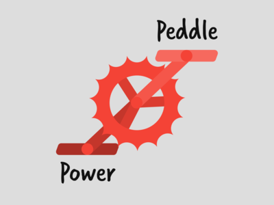 Bicycle Shop Logo - Peddle Power