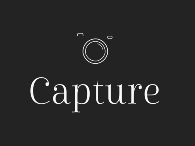 Photographer Logo - Capture